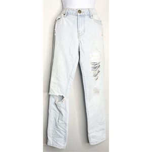 Life in progress distressed light wash jeans 25